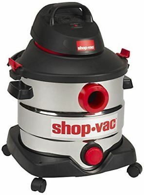 Shop-Vac 5989400 8-Gallon 6.0 Peak HP Stainless Steel Wet Dry Vacuum, 30.3L, Bla