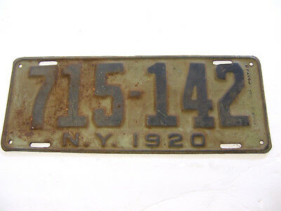 1920 20 New York Ny License Plate Tag Rustic Antique 715-142