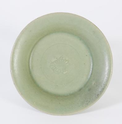 Fine China Chinese Green Glaze Floral Decor Ming Dynasty Plate ca. 1368–1644