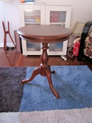 Vintage Mid Century Very Solid Regency Occasional Wine Side Table