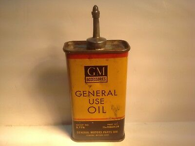 Vintage GM Can handy oiler Lead Top 4 oz Rare oil household old Delco Chevy 3 BP