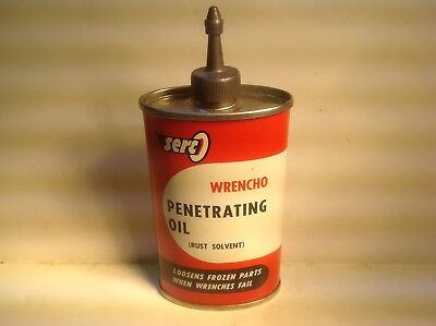 Vintage Serco Can handy oiler Nos Lead Top 3 oz Household rare oil old 4 full DX