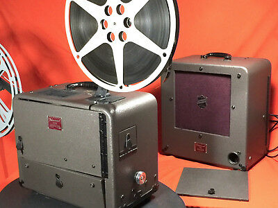 BELL & HOWELL 179 E 16mm SOUND PROJECTOR WITH SPEAKER - IMPECCABLE CONDITION