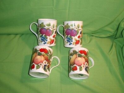 Lot Of Four 4 Staffordshire England Harvest Crown Trent China Mugs