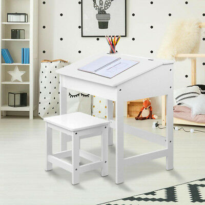 Kids Lift-Top Desk and Stool