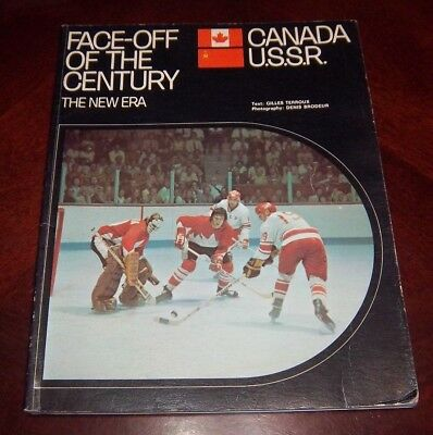 Canada U.S.S.R. Face Off Of The Century the new era   1972 Ken Dryden cover