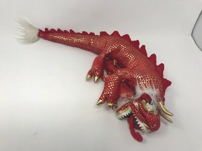 "Folkmanis Small Red Chinese Dragon Hand Puppet 20"" Long"