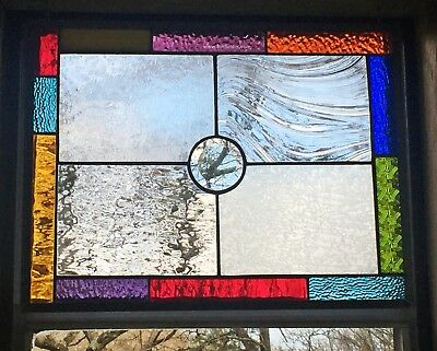 *american Made* Stained Glass & Architectural Glass Window Panel* Bevel Accent*