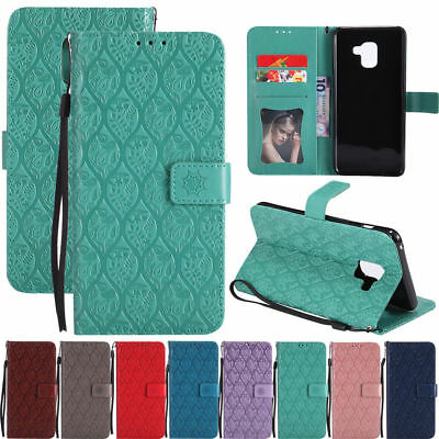 Pattern Magnetic Leather Flip Stand Wallet Case Cover For Samsung Galaxy Phones