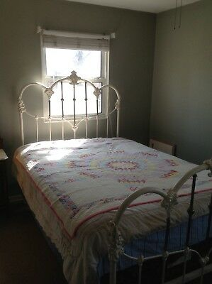 Antique iron bed queen size