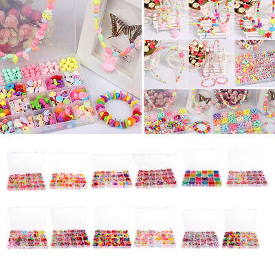 1Set DIY Colorful Beads Bracelet Kids Personalized Jigsaw Puzzle Beads Toys