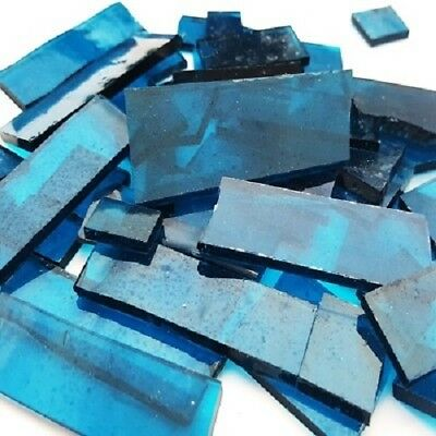 Stained Glass Pieces - 200grams - Congo Blue Transparent