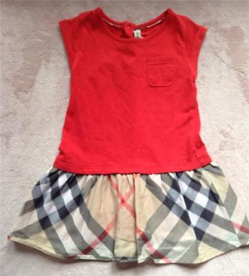 Authentic Burberry Red Dress Sz 9 months