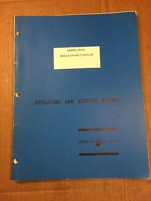 HP 3304A Owner's Instruction & Service Manual Original Factory Paper Schematic