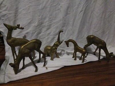 Solid Brass Sculpture • Brass Animal Lot • Metal Animal Collection