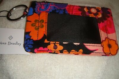"""Vera Bradley  Zip Id Case """"floral Fiesta"""" Retired Pattern  New With Tags! $14"""