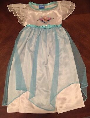 Disney Elsa From Frozen White & Blue Nightgown Size 18 Months