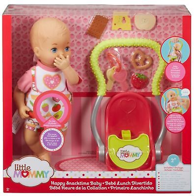 Little Mommy Happy Snacktime Baby Doll fcn10  New  2+