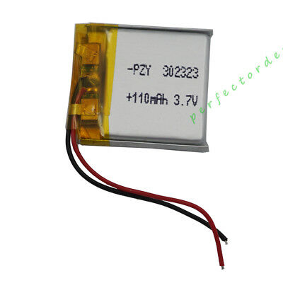3.7V 110 mAh Polymer Li Lithium Cells For  GPS  bluetooth headset sat Nav 302323