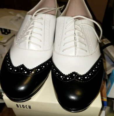 BLOCH SHOCKWAVE WHITE & BLACKJASON Tap Shoes size 7