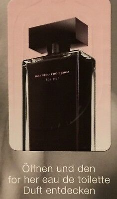 Narciso Rodriguez for her Parfum Liquatouch Duftprobe Probe Toilette Duftpatch