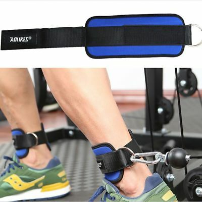 Pair Weight Lifting Ankle D-ring Strap Gym Leg Training Cable Attachment Fitness