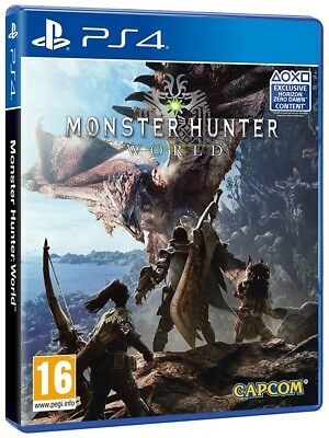 Monster Hunter World PS4 New & Sealed +Courier Delivery