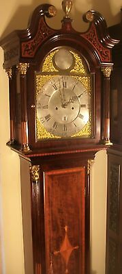 "Antique Mahogany Brass Dial ""Month Duration "" Longcase / Grandfather Clock"