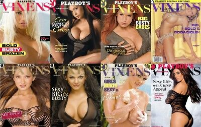 79 Playboy's Vixens & Voluptuous Vixens & Extras Magazine Collection In PDF DVD