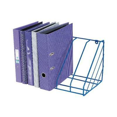 Blue Plastic Coated Wire Universal Lever Arch File, Binder Storage Rack WR222BL