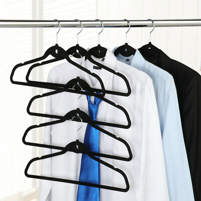 100 x Cascading Velvet Hangers Non-Slip Flocked Hangers Space Saving 360° Swivel