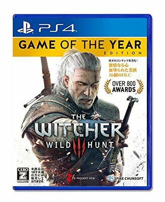 Used PS4 Witcher 3 Wild Hunt Game of the Year Edition Japan Import