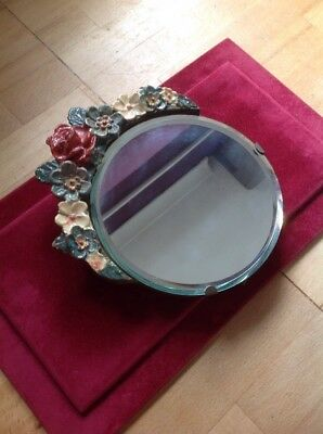 Old Vintage Ornate Make Up Vanity Mirror With Stand Nice Piece