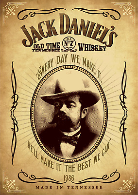 Jack Daniels Whiskey Vintage Poster Bar Quality wall Art  Choose your Size