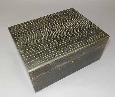 Vintage Alfred Dunhill Creased oak with elephant gray tones  Lined Humidor 11.5""