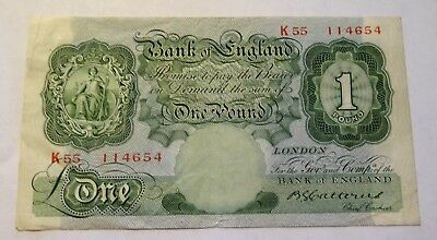 Bank Of England £1 note Catterns K55 114654 VF
