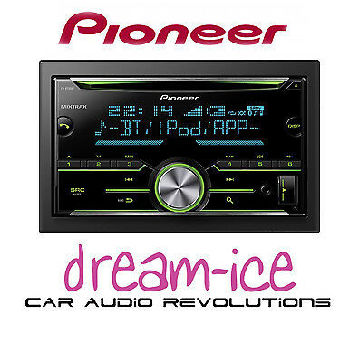 Pioneer FH-X730BT Car Double DIN CD MP3 USB Stereo Tuner iPod iPhone Player RGB