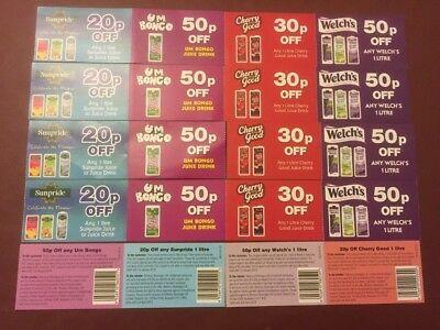 £7.50 Assorted Juice Drinks Discount Coupons - *valid until 01.01.19*