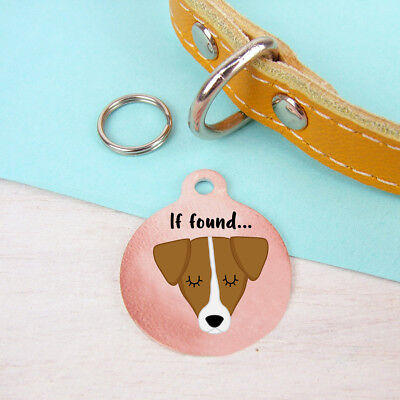 Jack Russell Terrier personalised copper dog name ID tag Collar Charm