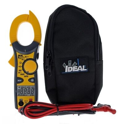 Electrical Tools Ideal Low Battery Indicator Digital NCV 600 Amp AC Clamp Meter