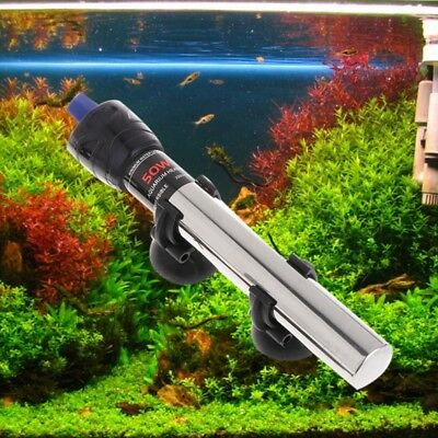 Fish Tank Water Heater Stainless Steel Temperature Control Aquarium Submersible