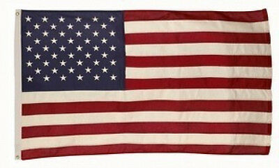5x8 FT US American Flag Best 100% Cotton Valley Forge Flag Embroidered & Sewn