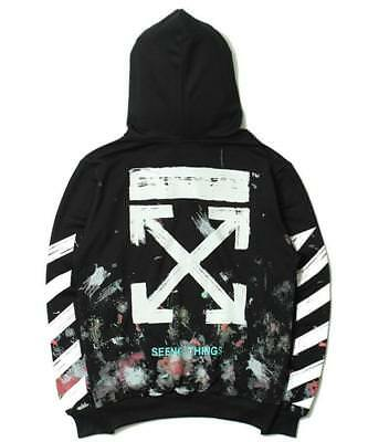 Off White C/O Virgil Abloh Firework Arrows Galaxy Hoodies Unisex Pullover FA