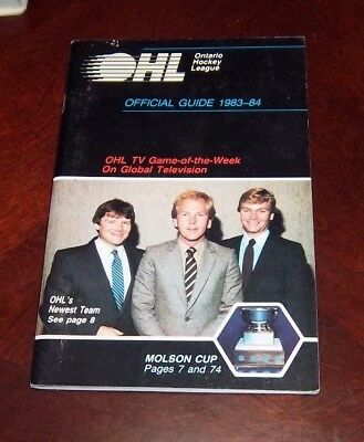 OHL Official Guide 1983-84 Gary Green / Mike Anscombe / Jim Hughson  cover