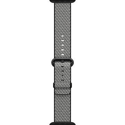 Genuine Apple Woven Nylon for Apple Watch 38mm - Black Check (Space Gray Buckle)