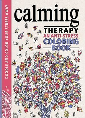 Calming Therapy Stress Relief Coloring Book For Adults Hardcover Anxiety NEW