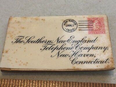 Southern New England Telephone advertising  New Haven CT 1900 Whitehead Hoag