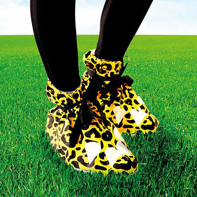 FUNKY Festival Feet Animal Shoe Covers - One Size- Cheetah Print - Keep Feet Dry