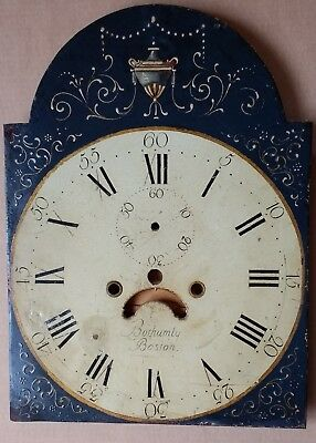 antique painted long-case/grandfather clock dial