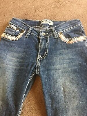 Real Burberry Girls Denim Jeans Age 13